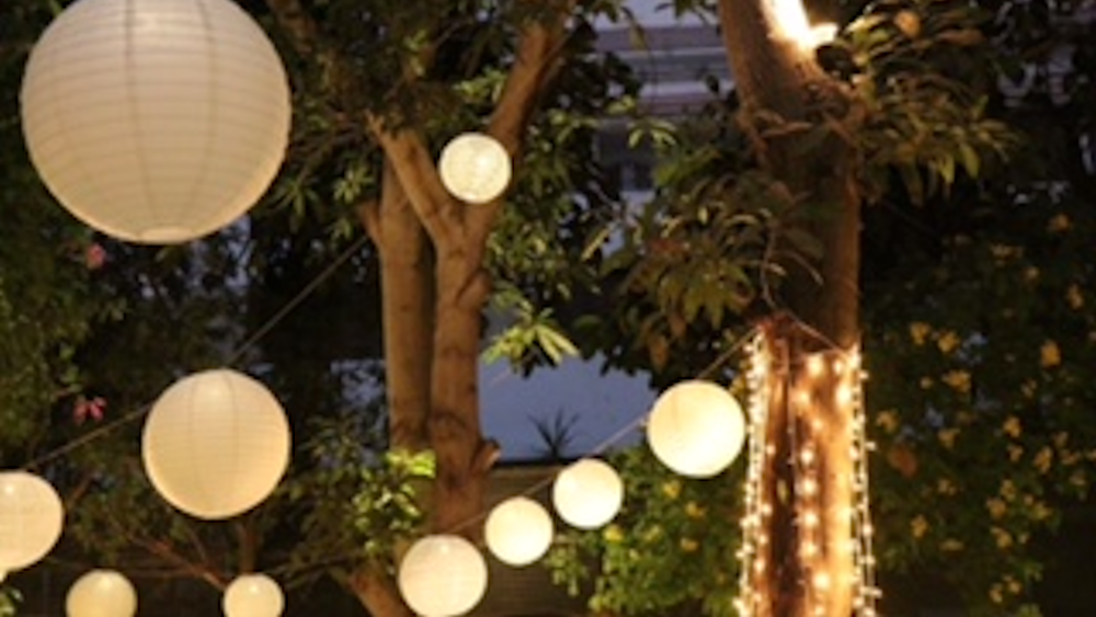 Egyptian Outdoor Wedding Features our Lanterns