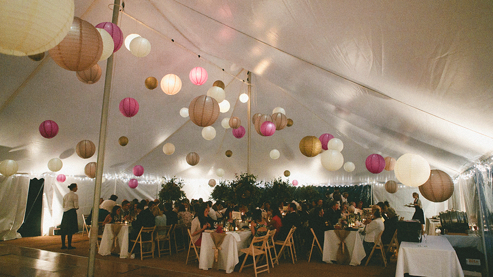 Rustic Paper Lanterns Add Whimsical Details To A Country