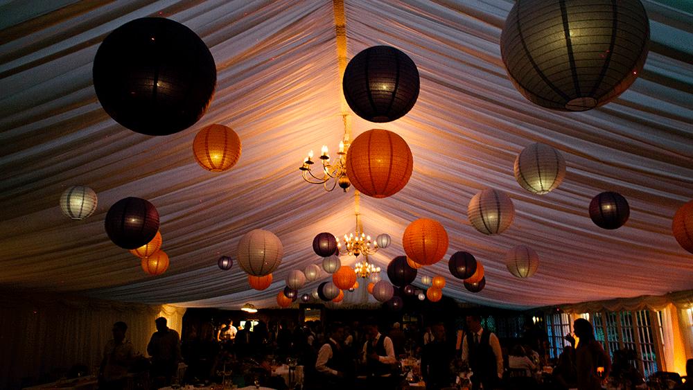 Regal Paper Lanterns at Broyle Place Farm