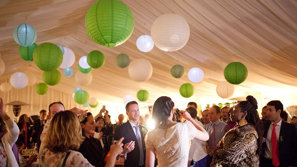 Traditional Green Country Wedding Lanterns