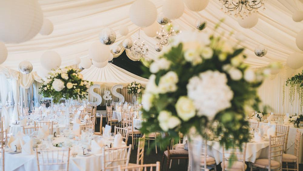 Cream and Silver Wedding Lanterns