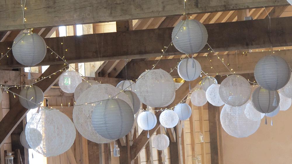 Vintage wedding lanterns at the yoghurt rooms in east - White hanging paper lanterns ...