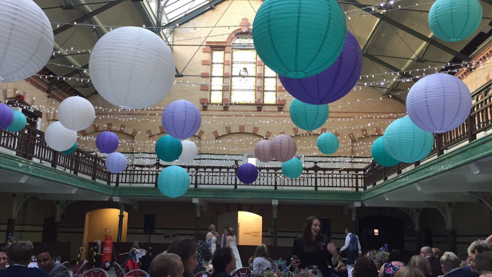 Rich Coloured Lanterns at the Victoria Baths
