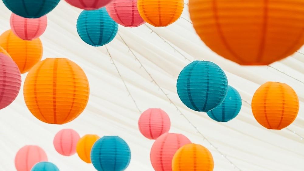 Mad Hatter's Coloured Lanterns Inspire Bridal Boutique Owner