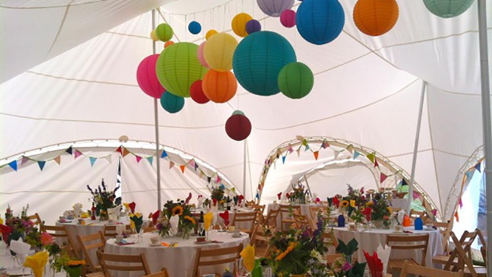 Coloured Capri Tent Lanterns
