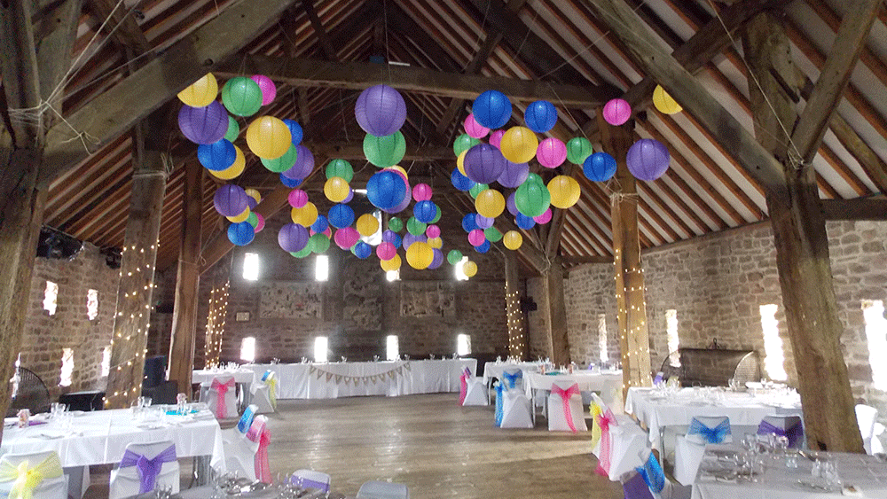 Mad Hatters Lanterns at The Manorial Barn