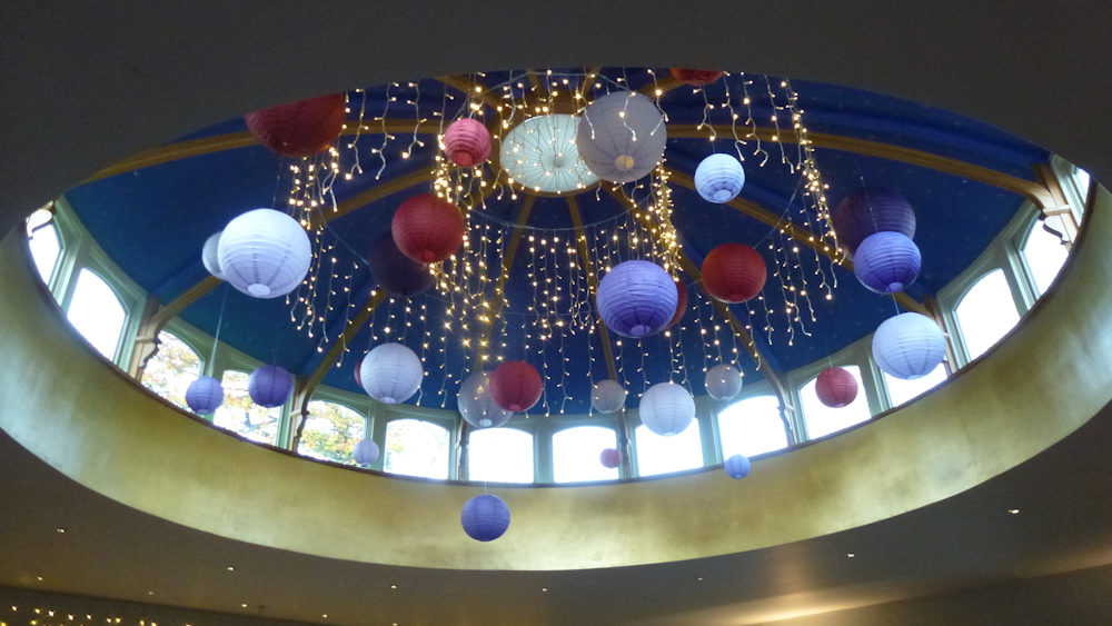 Autumnal Lanterns decorate the dome at The Matara Centre