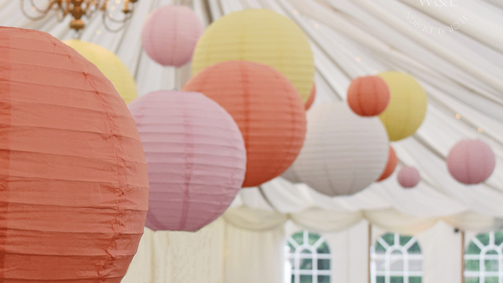 Create drama at Middleton Lodge with our extra large hanging lanterns