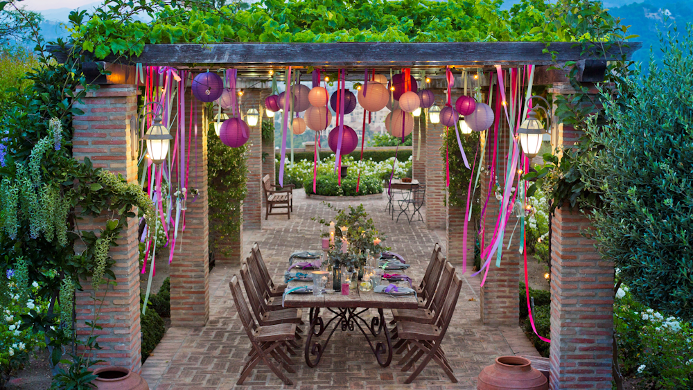 Coloured Outdoor Paper Lanterns