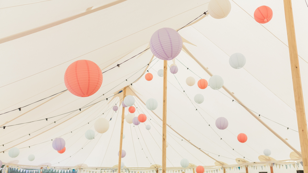Stevie and Matt's Countryside Wedding Lanterns