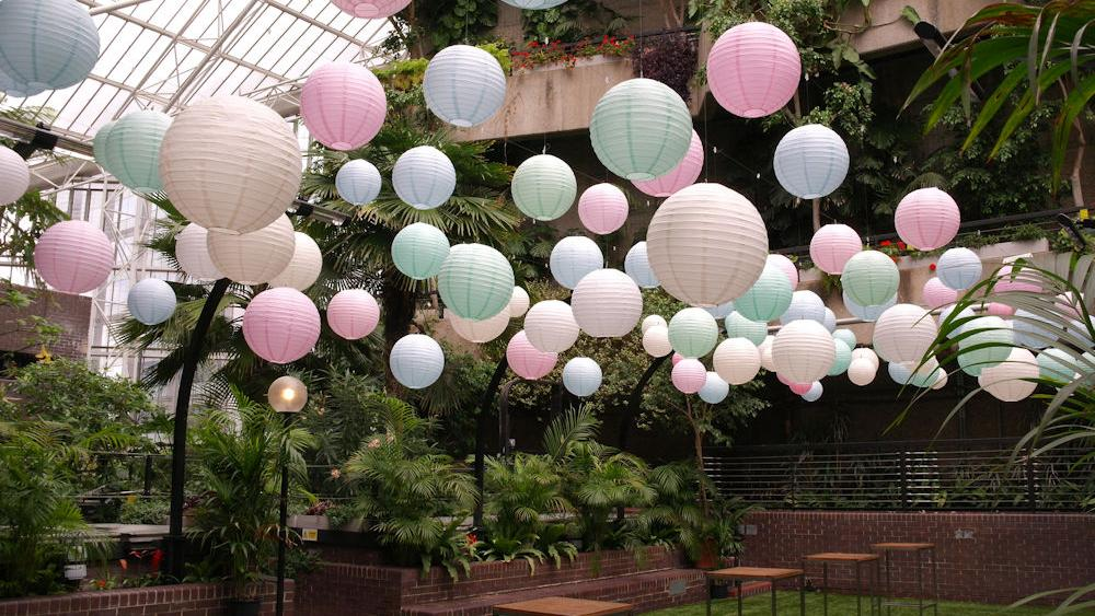 Pastel Paper Lanterns in the Barbican