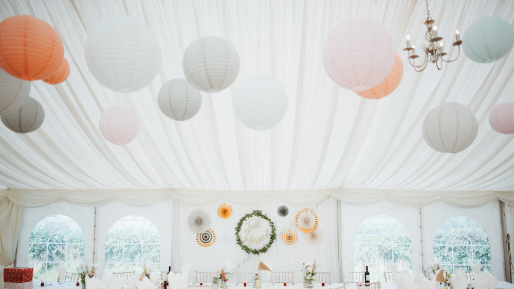 JG Marquees Paper Lantern Canopy