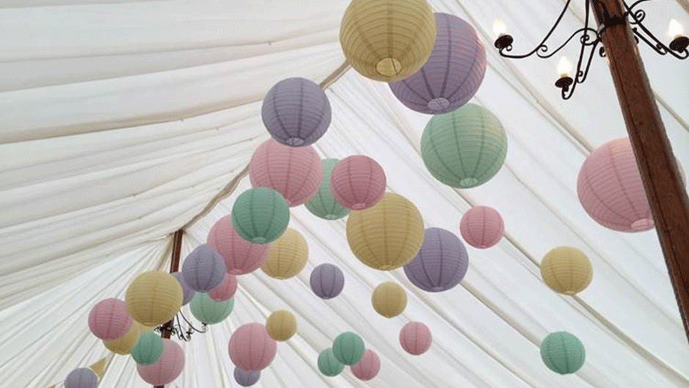 County Marquees Pastel Lanterns Hanging Lantern Company