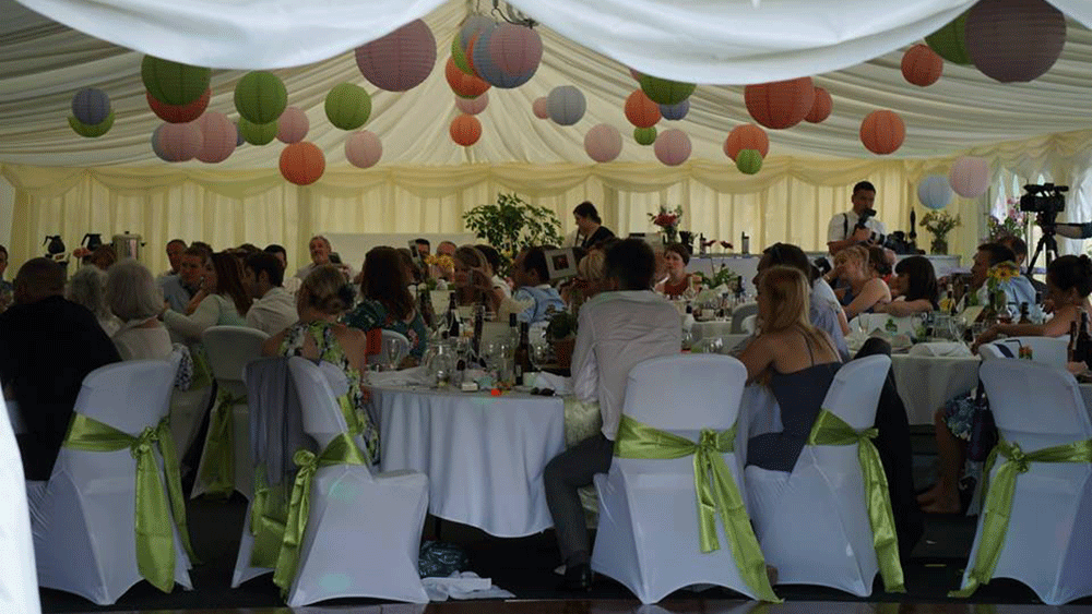 Coloured Boho Inspired Marquee Lanterns