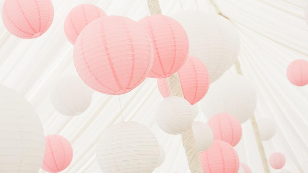 Pretty Pink Paper Lanterns Hanging Lantern Company