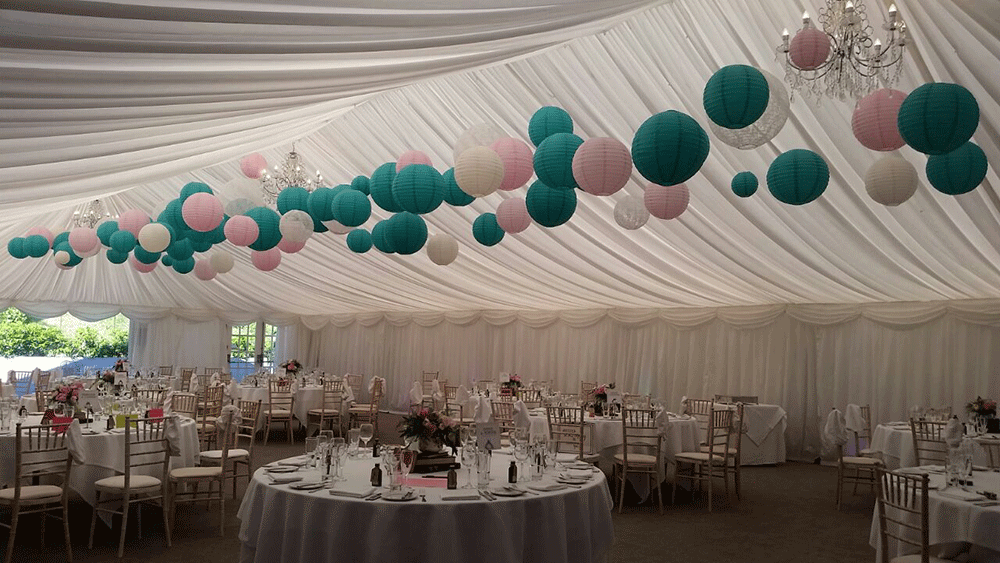 Yorkshire Wedding Stylists Sashes n Covers suspend