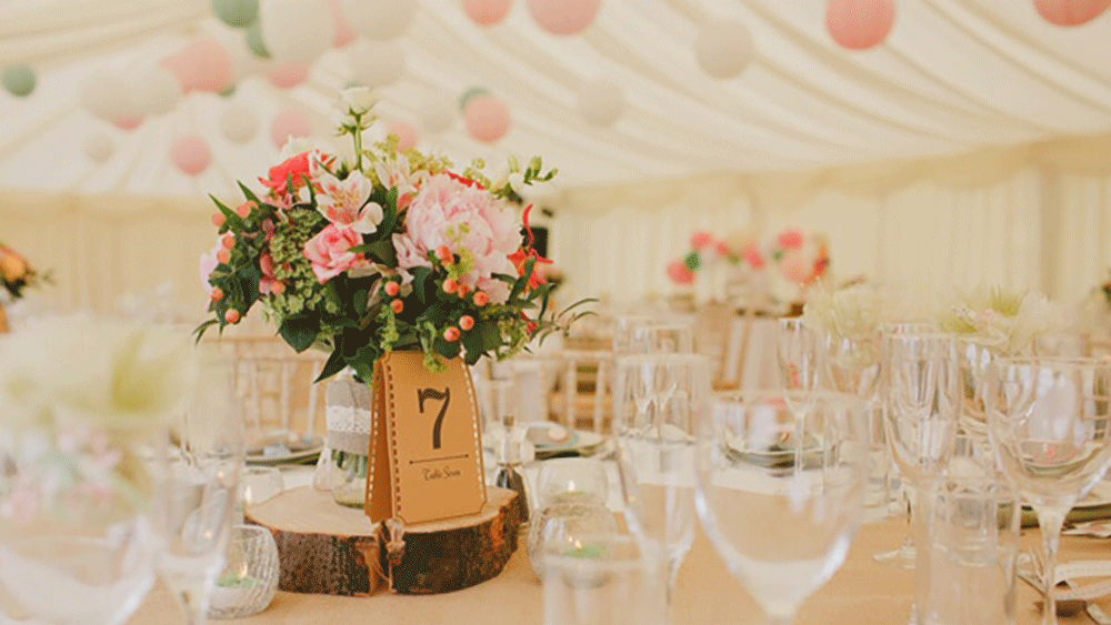 Jade and Brian's beautiful waterside marquee