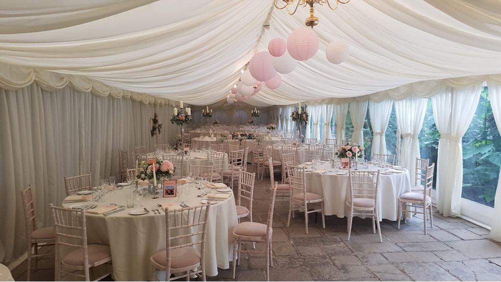 Pretty Pink and White Wedding Lanterns