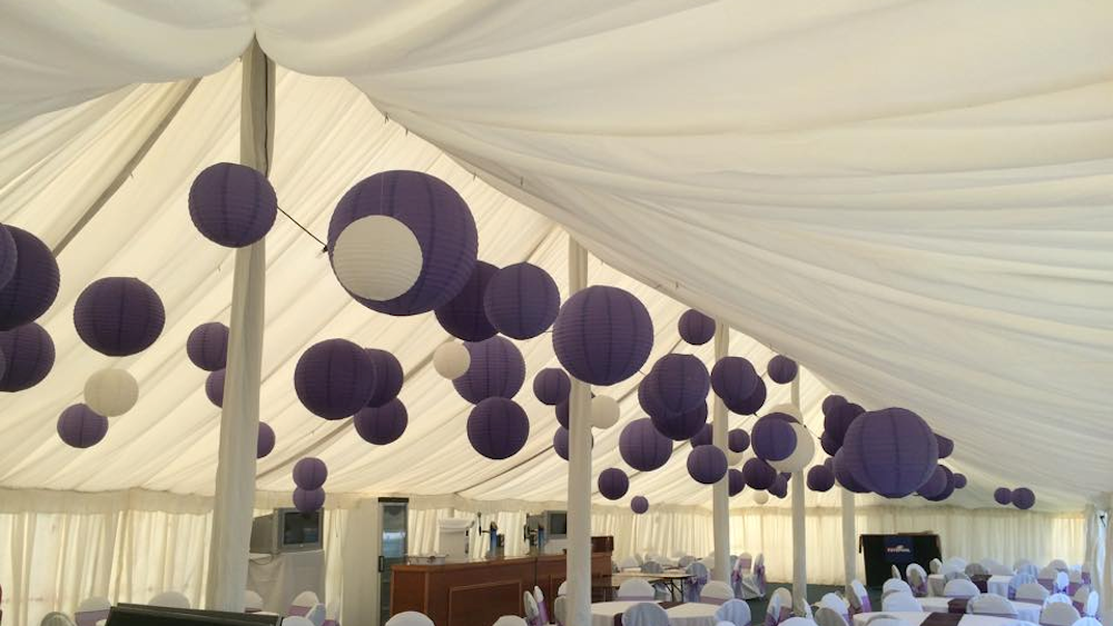 Great Yarmouth Racecourse Decorated with Purple Lanterns