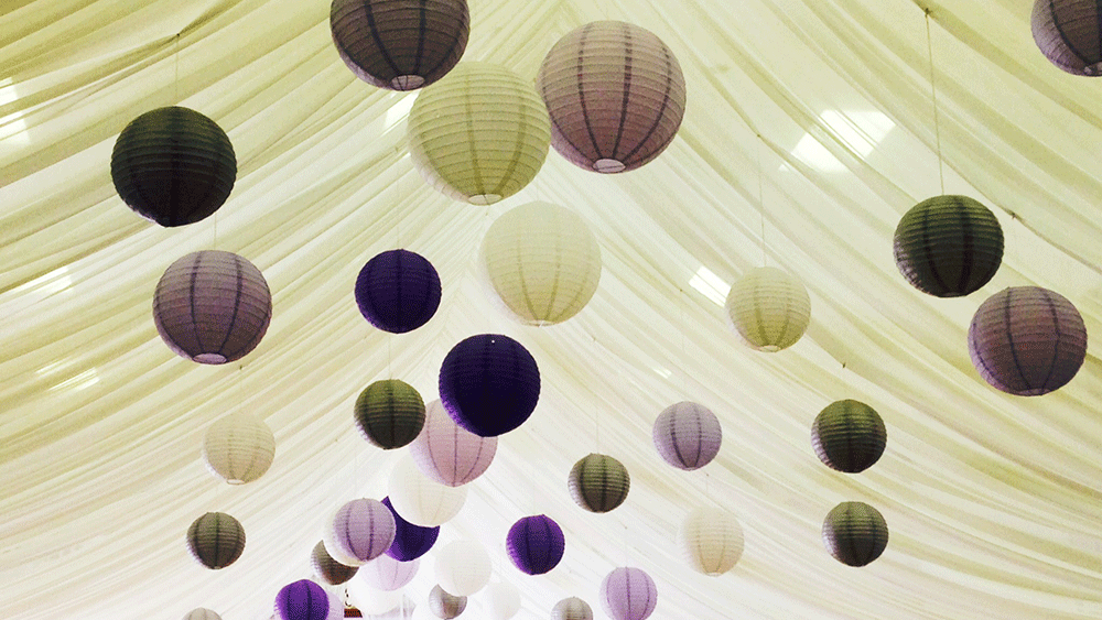 Get Creative with Coloured Hanging Lanterns
