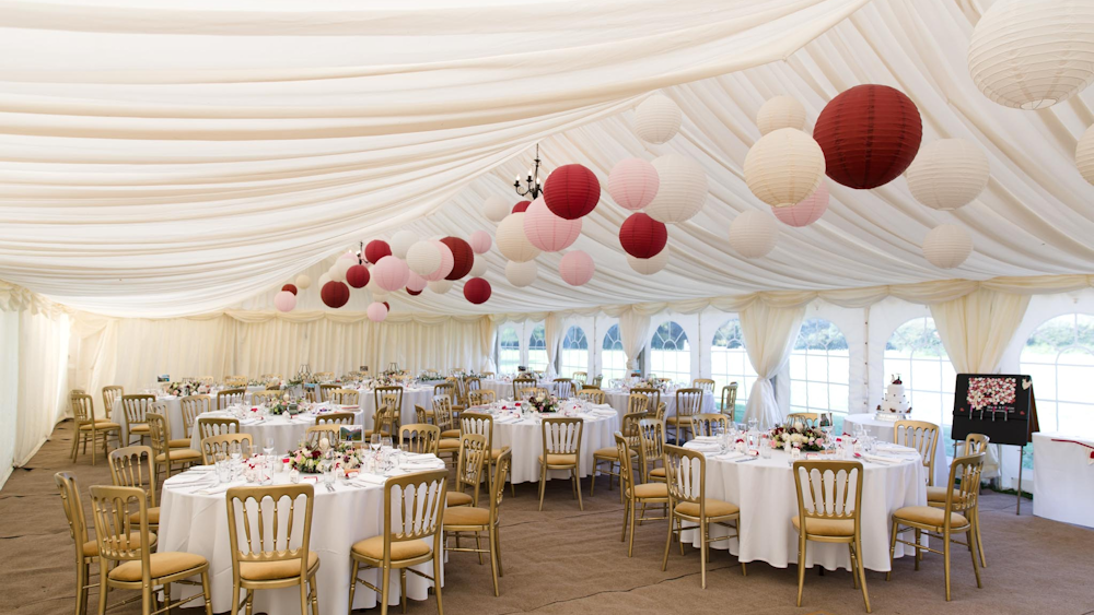 Rich Red and Soft Pink Hanging Lanterns