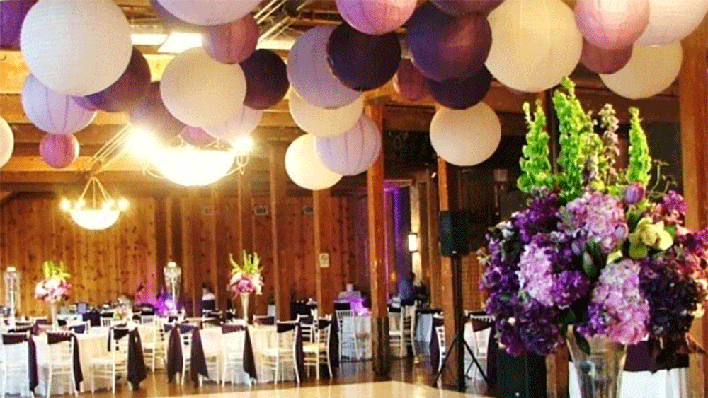 Purple chinese wedding lanterns and autumn wedding themes recreate this look for your wedding or event junglespirit Gallery