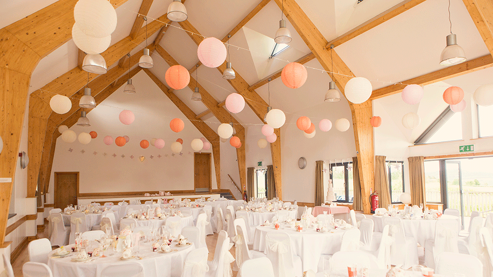 Pink and peach paper lanterns at rock village hall hanging lantern pink and peach paper lanterns at rock village hall junglespirit Images