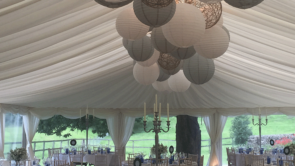 Gorgeous lanterns at The Sportmans Arms Hotel in Wath Nidderdale