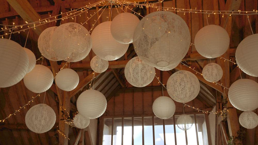 Beams and Lace Lanterns look Stunning at this Wedding