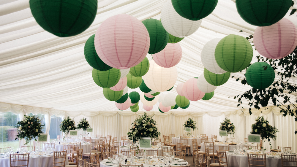 Pantone Inspired Green Wedding Lanterns
