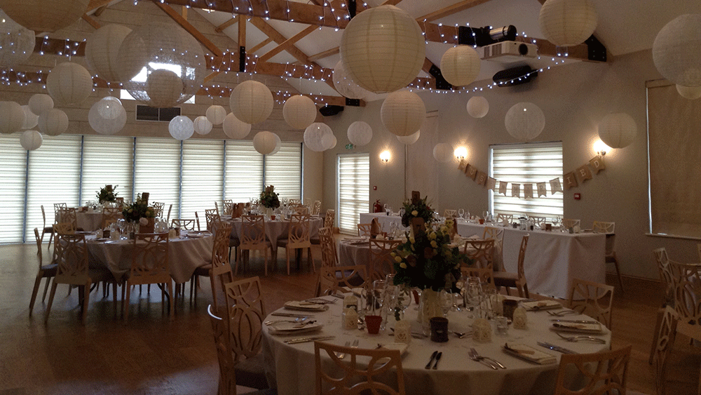 Vintage Neutral Paper Lanterns at The Boathouse, Norfolk.