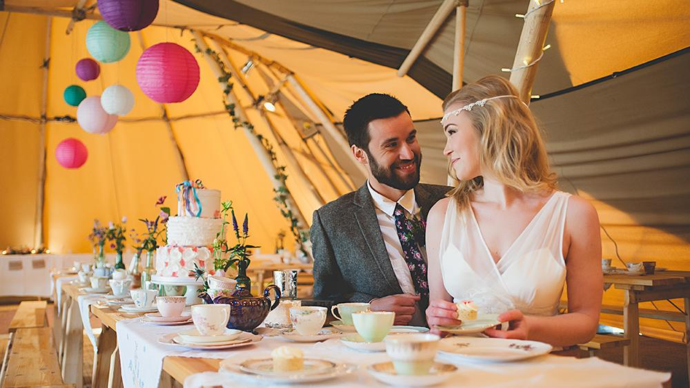 Bright Tipi Wedding Lanterns