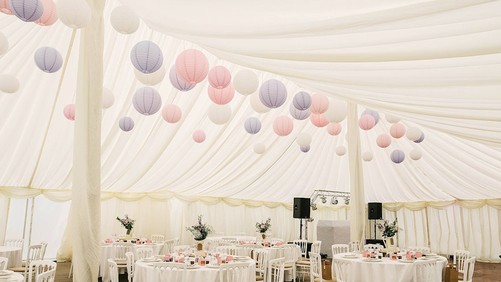 Stunning Suffolk Wedding Decorated With Rustic Paper Lanterns