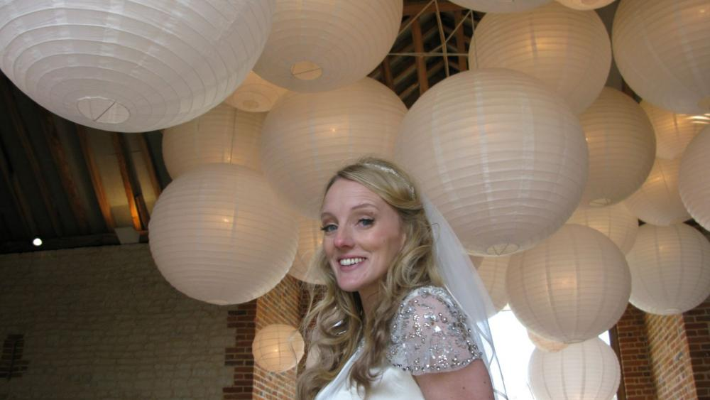 Soft Illuminated Cream Paper Lanterns