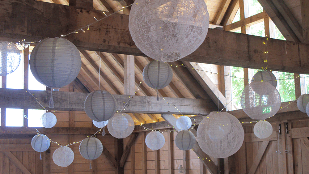 Lanterns Decorated For Christmas