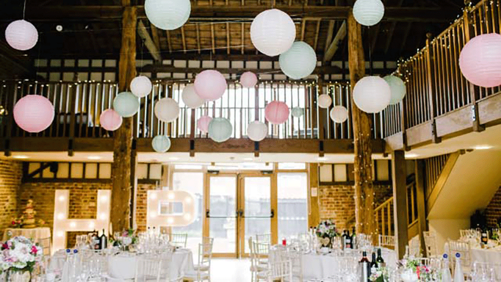 Classical Pastel Paper Lanterns Are Perfect For Timeless