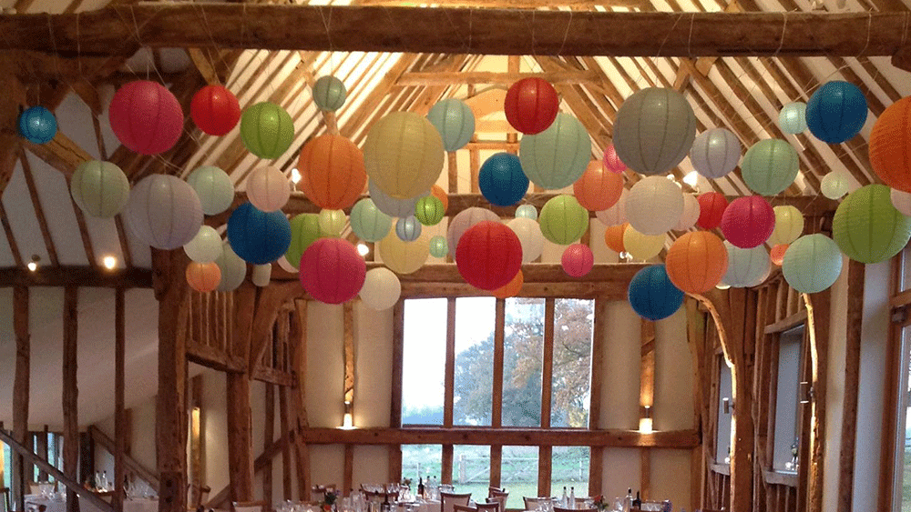 Dance Under a Canopy of Coloured Hanging Lanterns