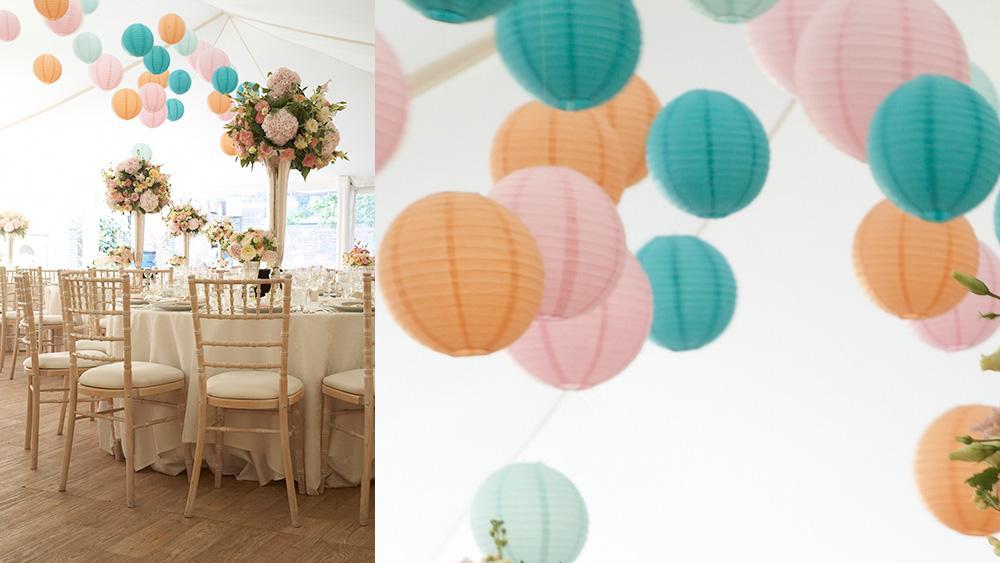 Pastel Paper Lanterns Perfect for Wedding Magazine