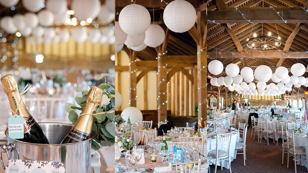 Classic Romantic White Wedding Lanterns Hanging Lantern