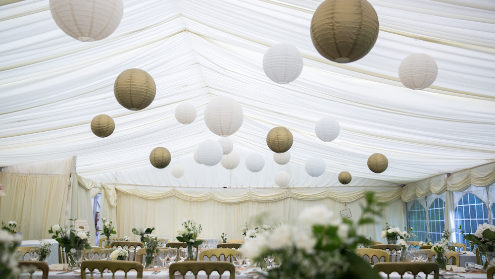 Great Gatsby Gold Wedding Marquee Lanterns