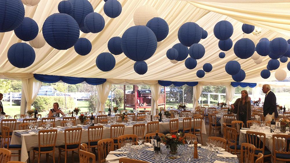 Royal Blue Hanging Lanterns For A Regal Celebration