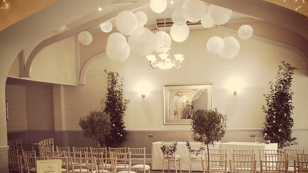 Ceremonial White and Lace Lanterns at The Oaklands Hall Hotel