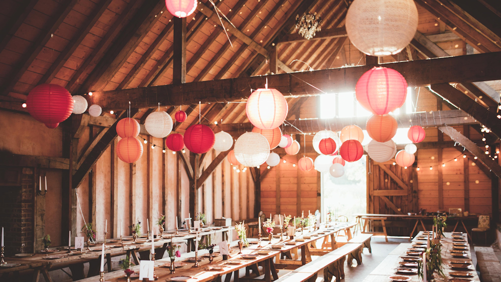 Cosy Autumn Coloured Lanterns at The Yoghurt Rooms