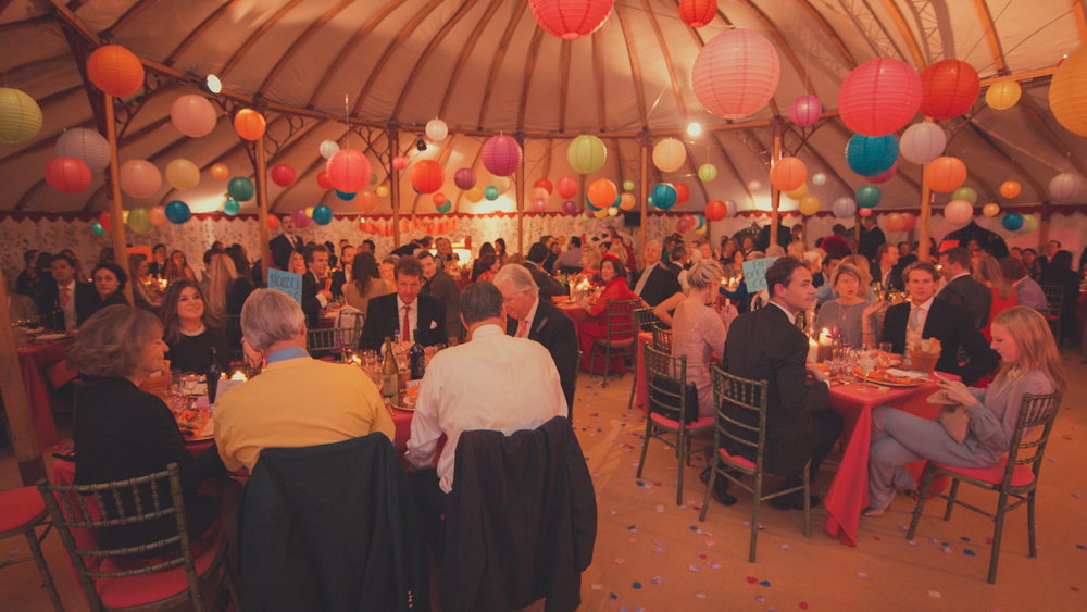 Multi Coloured Lanterns for a Quirky Wiltshire Wedding