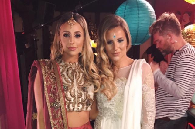 Amber and Georgia celebrate Diwali