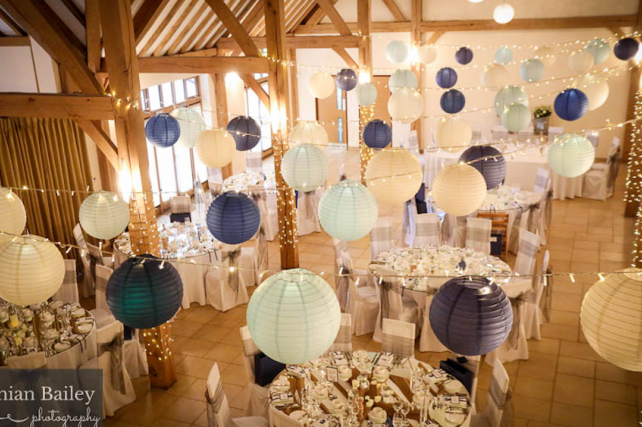 Barn wedding lanterns