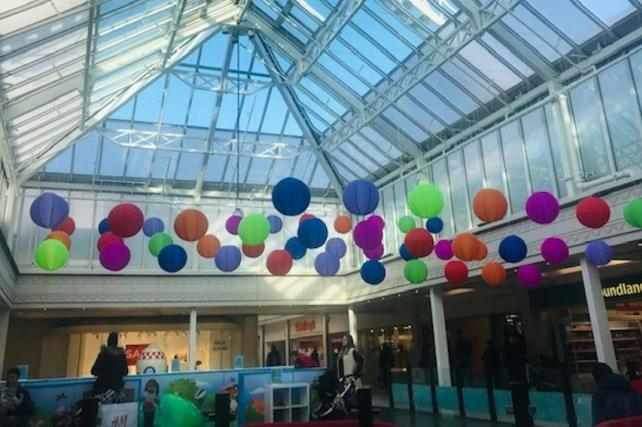Lanterns in The Square Shopping Centre in Camberley