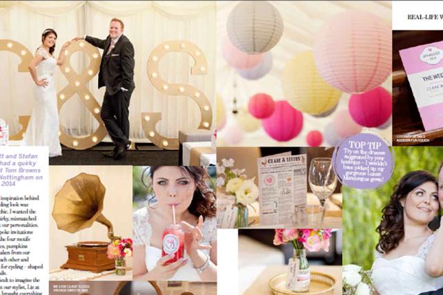 Coloured Paper Lanterns in Perfect Wedding Magazine
