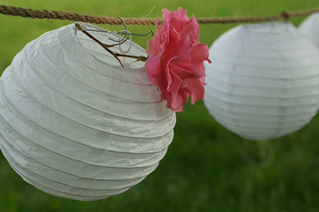 Small paper lanterns for lantern walk
