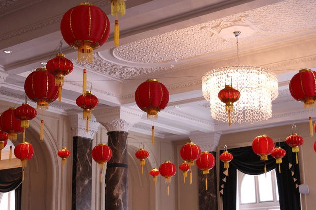 Traditional Chinese Lanterns at The Grosvenor Hotel, London